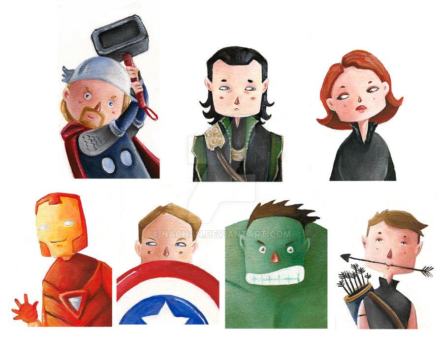 Mini Avengers by Nachan
