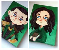 Loki magnet minicanvas by Nachan