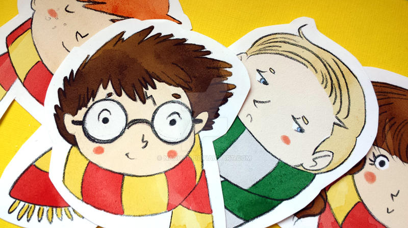 Harry Potter mini stickers by Nachan