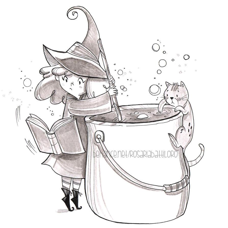 Streghetta e Micio - magic potion by Nachan