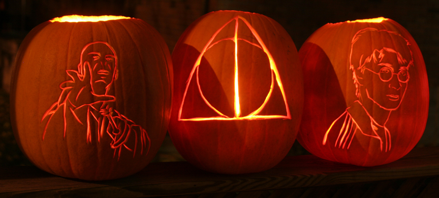 Deathly Hallows Pumpkins by comicalclare on DeviantArt