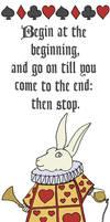 White Rabbit Bookmark