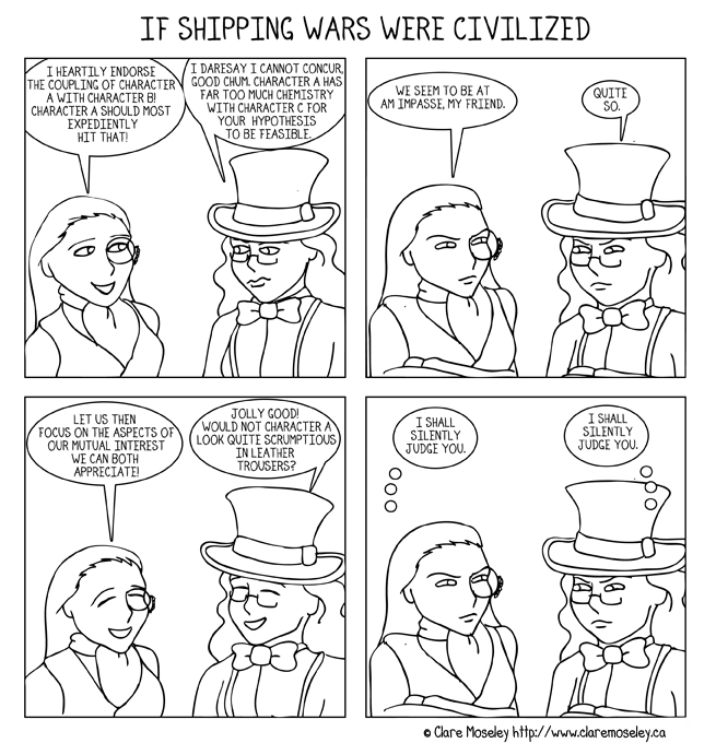 If Shipping Wars Were Civilized by comicalclare