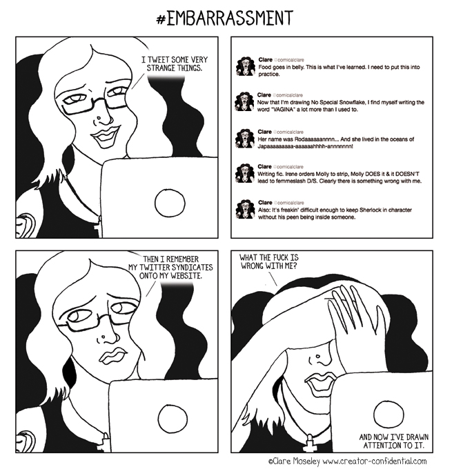 88. #Embarrassment by comicalclare