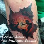 Leaf tattoo by Craig Holmes @ Iron Horse