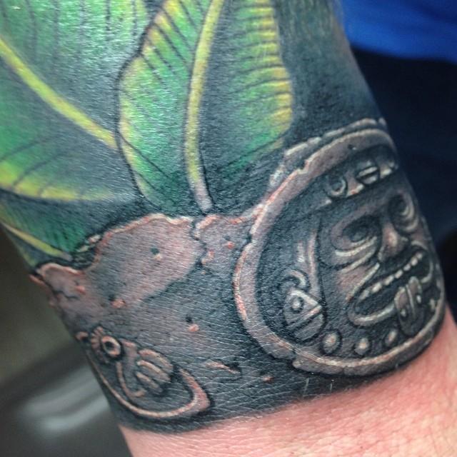 mayan calendar around wrist tattoo by craig holmes by craigholmestattoo on deviantart. Black Bedroom Furniture Sets. Home Design Ideas
