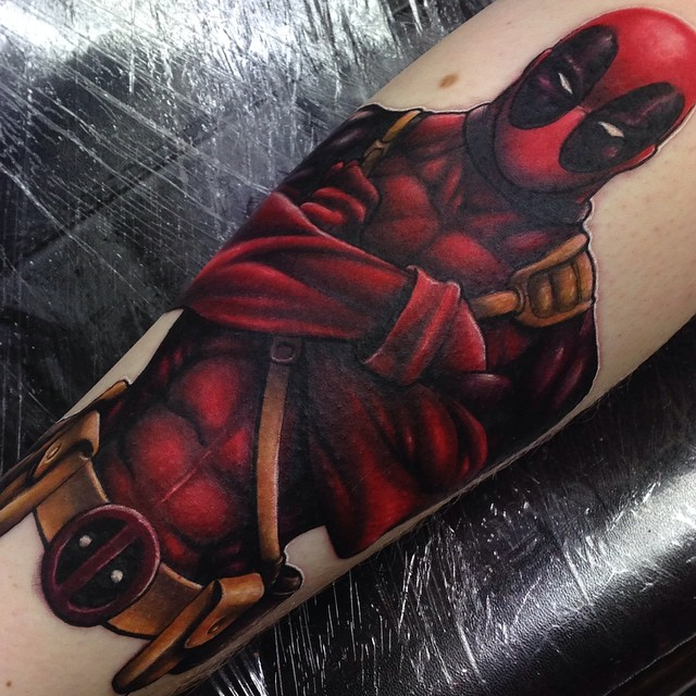 Marvel deadpool tattoo by craig holmes by for Marvel comics tattoos