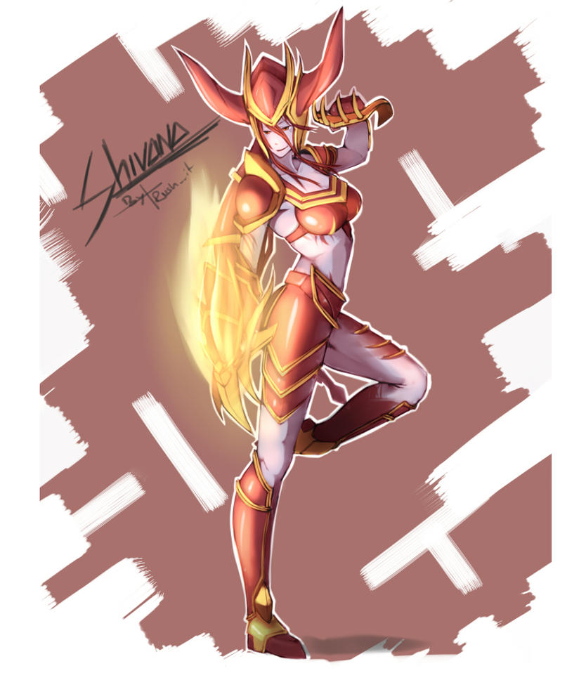 LoL Girls - Shyvana by Rush--it