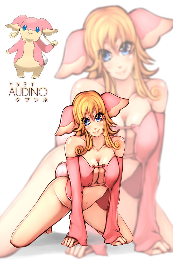 Audino Gijinka by Rush--it