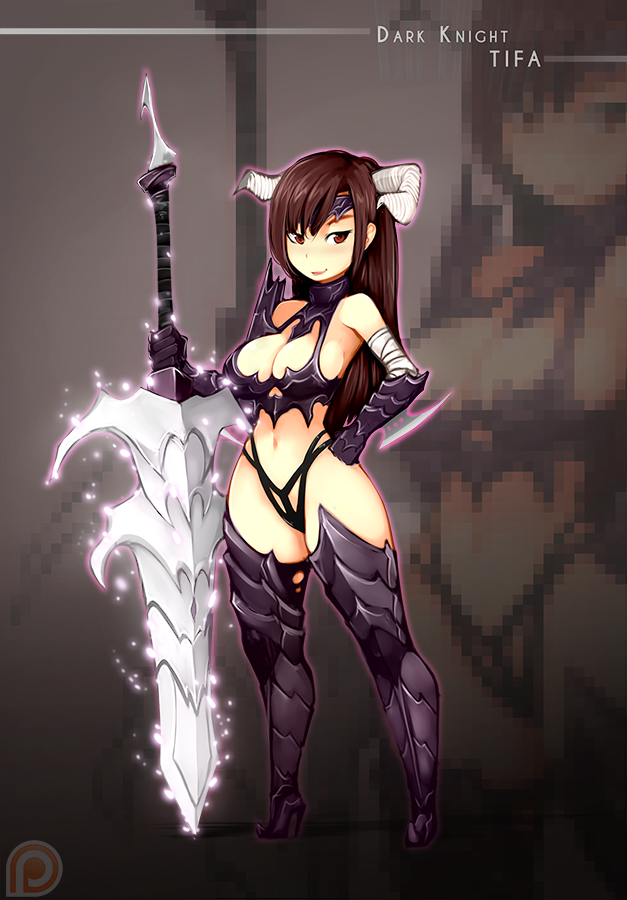 ::: Dark Knight Tifa ::: by Rush--it