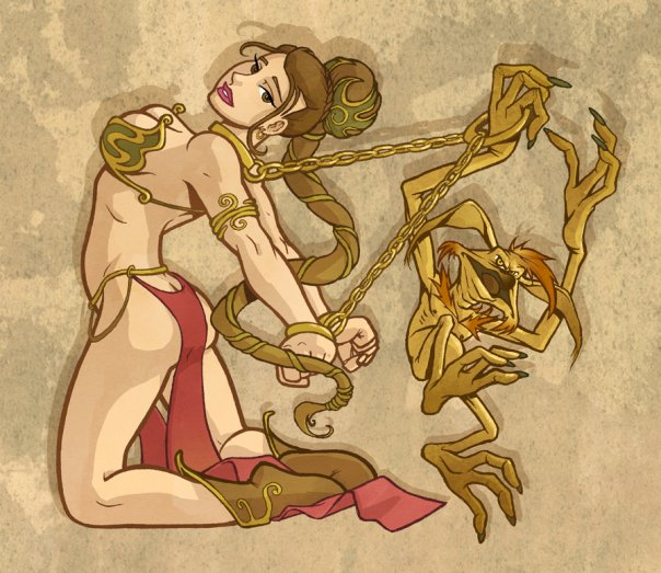Slave Leia by DerekHunter