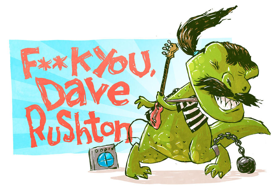 Dave Rushton Sketch by DerekHunter