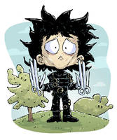 Edward Scissorhands Sketch by DerekHunter