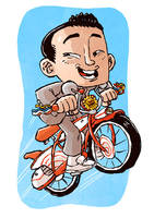 Pee-Wee Hermann Sketch by DerekHunter