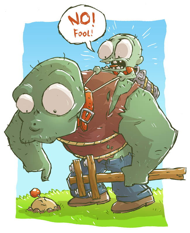 Plants vs Zombies sketch by DerekHunter