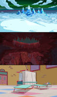 Adventure Time Lady and Peebles Backgrounds by DerekHunter
