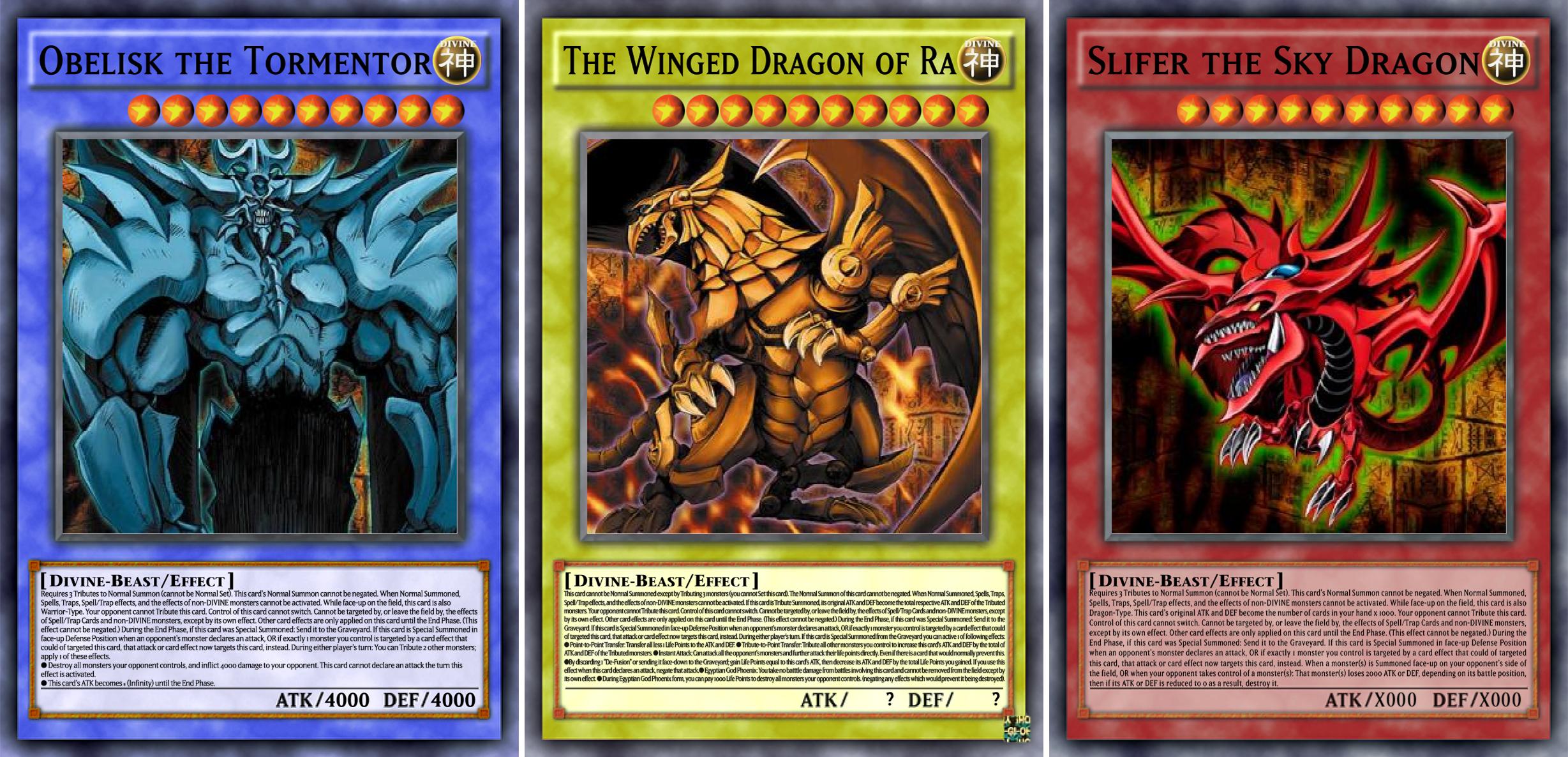 Yu-Gi-Oh! Egyptian God Cards (Anime/Manga effects) by DragonRikaZangetsu on  DeviantArt