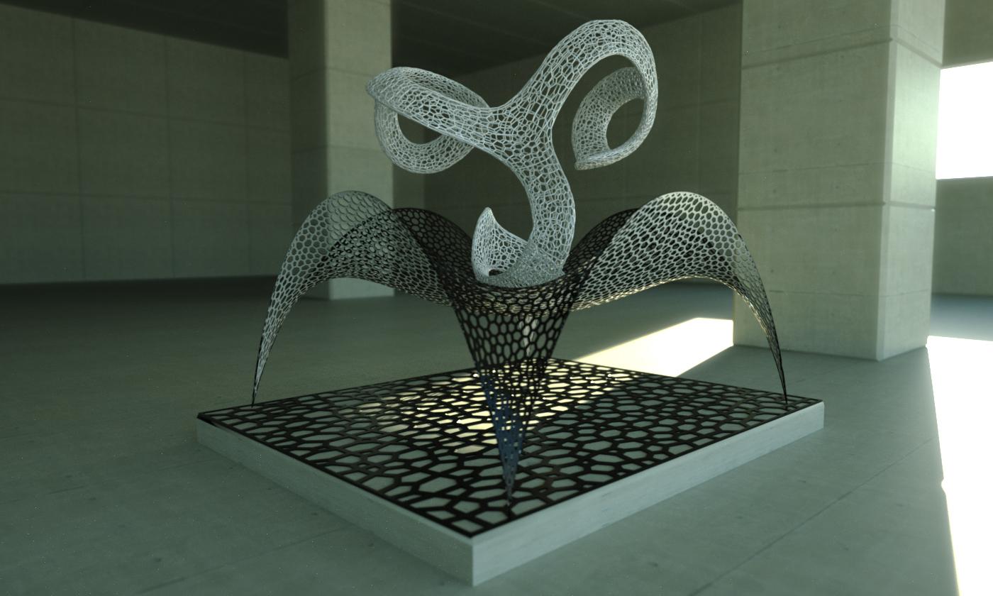 Voronoi Sculpture by LuxXeon