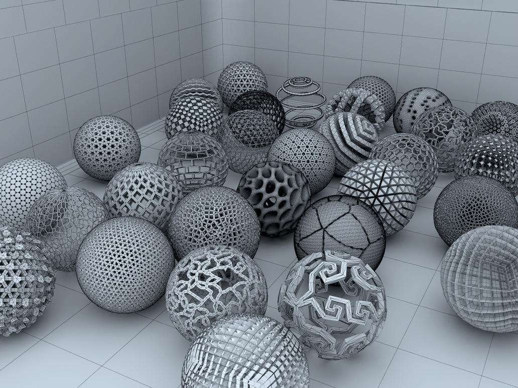 Spherical Anthology (wireframe version) by LuxXeon
