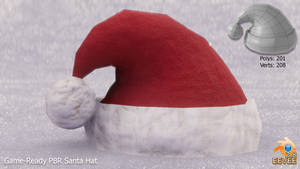 Low-Poly Santa Hat 3d Model
