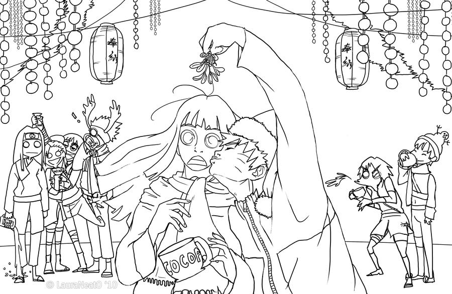 dip coloring pages | Dipping into th Eggnog-LINEART by lauraneato on deviantART