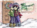 Happy Holidays- Chib Tks-Goten