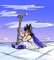 Two Roads: Great KAMI, Goku by lauraneato