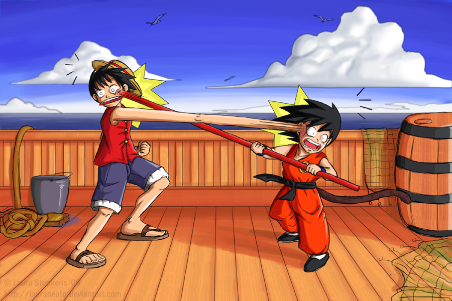 Luffy Fail Blog - Page 10 Monkey_D__Luffy_vs__Monkey_Boy_by_lauraneato
