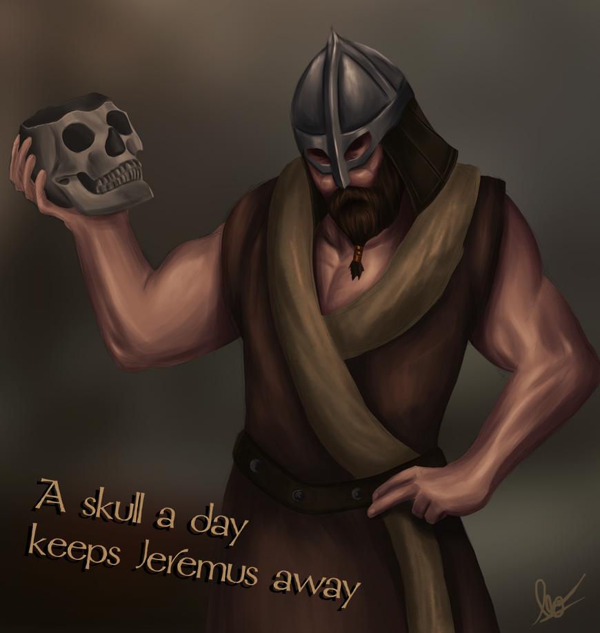 Skull Drinking by VenomLayzer