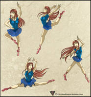 Comiss:. Scarlett Dance Poses by Prissmon