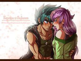 AT::. Kyoya + Sahara by Prissmon