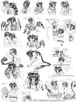 AnE::. Petya Sketches Collection by Prissmon