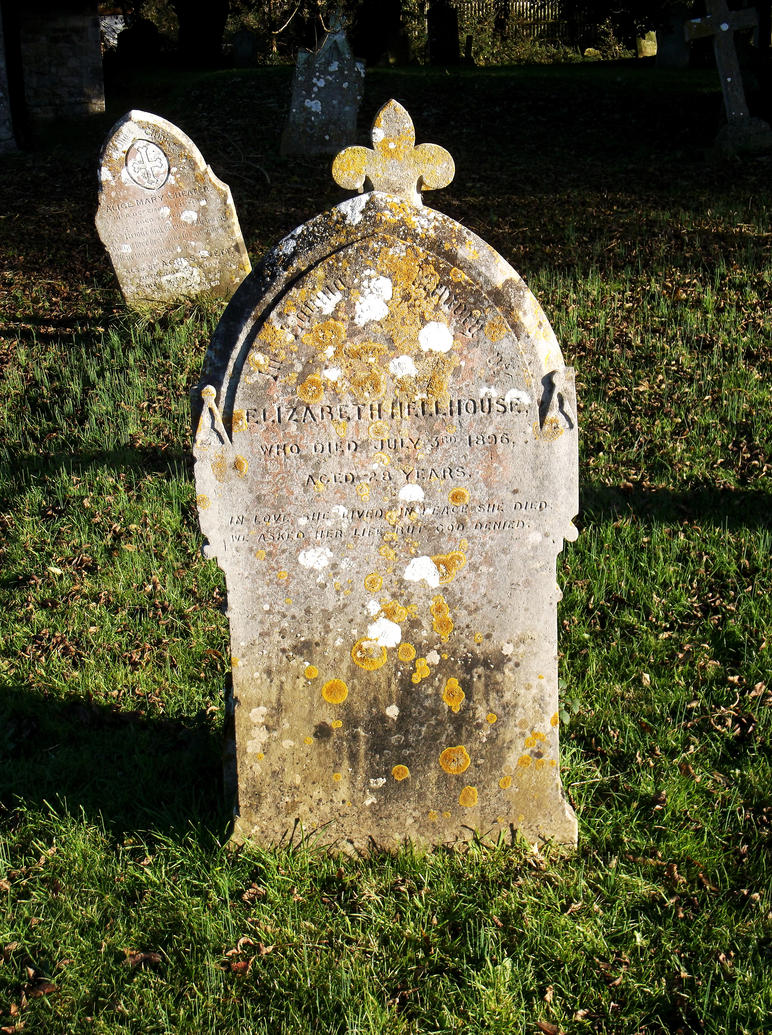 Tombstone with Unusual Surname! by OghamMoon