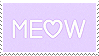 Meow Stamp by kawaiistamps
