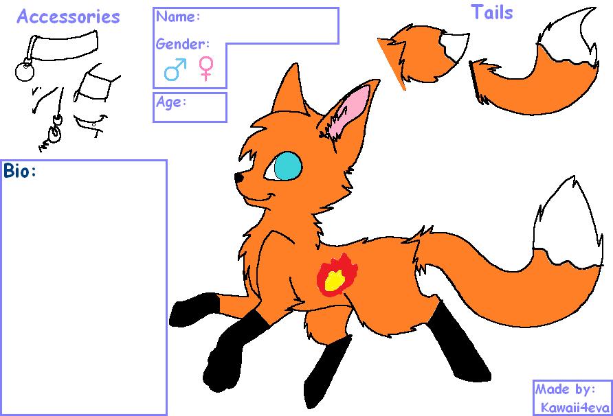 Fox  Adopt name Blaze 10 points by FlameNelson