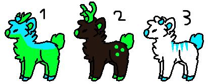 Deer adopt (1/3 open) by FlameNelson