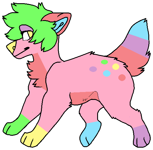 Pastel wolf adopt (closed) by FlameNelson