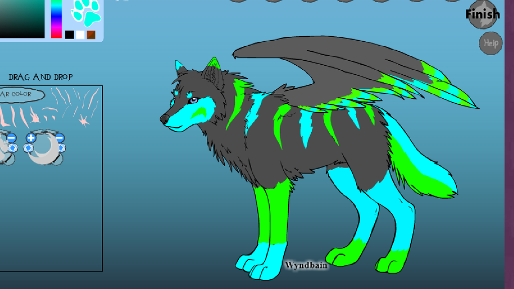 Wolf adoptable (OPEN) by FlameNelson