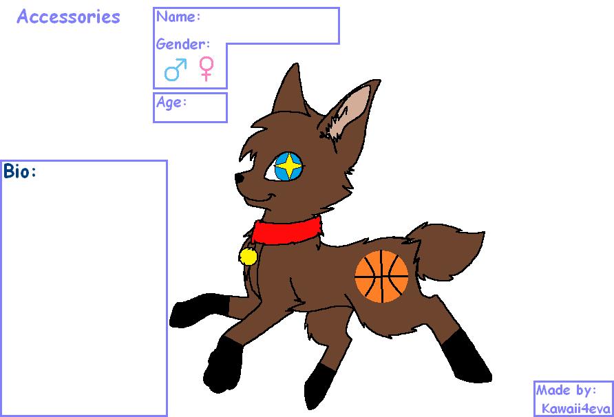 Basketball fox adopt (closed) by FlameNelson