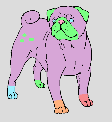Pastel pug adopt (open) by FlameNelson