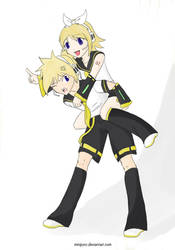 Rin and Len by minipyro