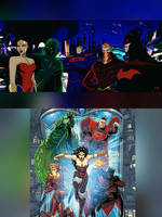 Justice League 3000 | JLU Style (Comic) by mariananaca