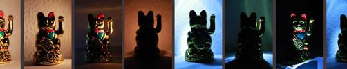 light study: maneki neko by Feuerkind