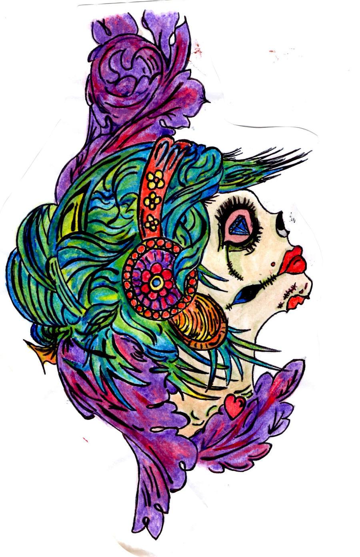 Old school gypsy tattoo design