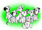 Some of the 101 dalmatians