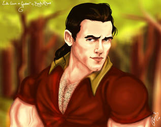 Luke Evans as Gaston by hollano
