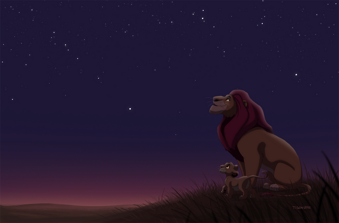 Mufasa and Simba by tigon on DeviantArt