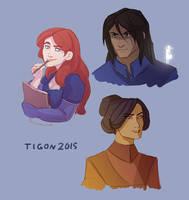 Shallan, Kaladin and Jasnah by tigon