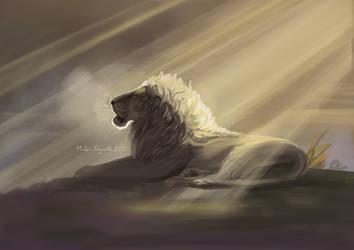 Unfinished lion