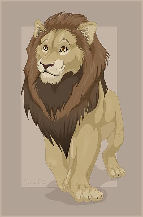 lion colored by tigon